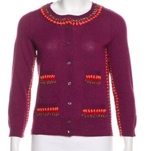 Marc Jacobs cashmere bels embroidered cardigan